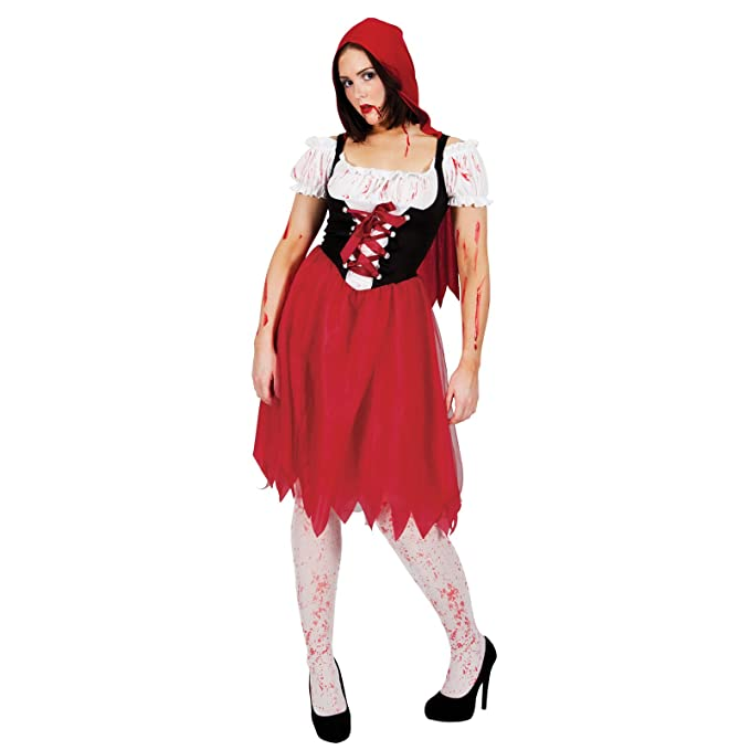 Hood Blood Red Halloween Ladies Costume Riding Dress Fancy Wicked qzGMpSVU