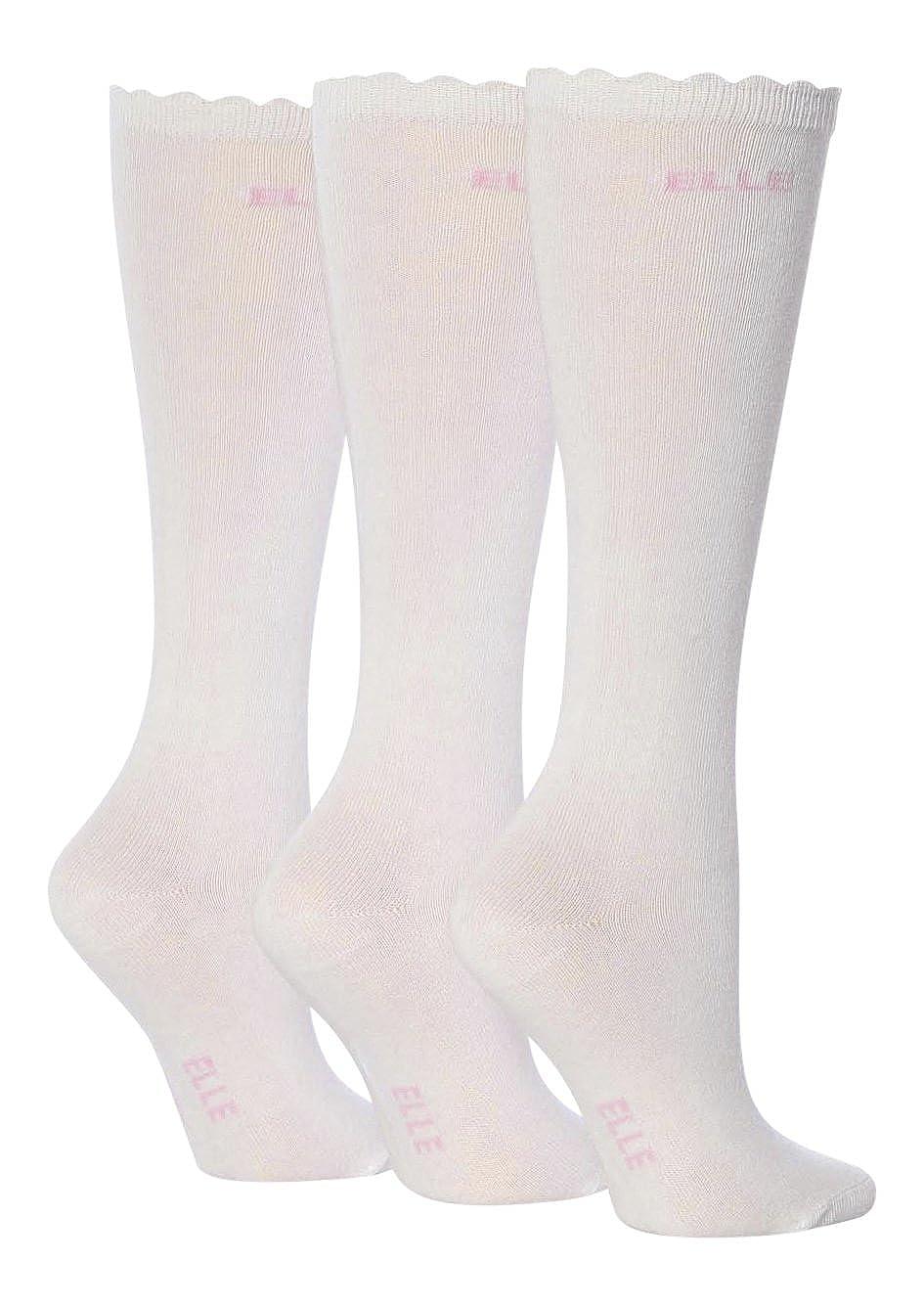 3 Pairs Girls Ladies Over knee Socks White 4-5.5(11+ Years)