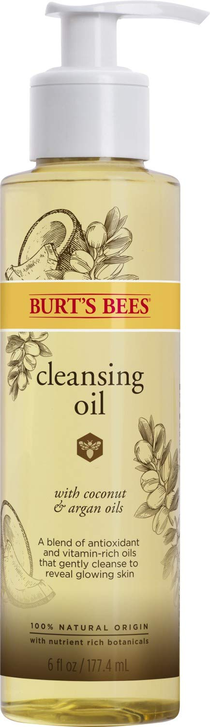 Burt's Bees 100% Natural Facial Cleansing Oil for Normal to Dry Skin, 6 Oz (Package May Vary)