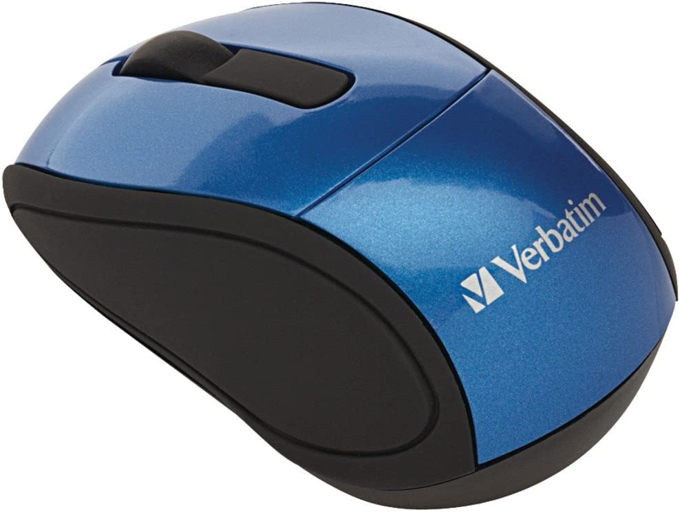 Verbatim Wireless Mini Travel Optical Mouse - Blue - 97471