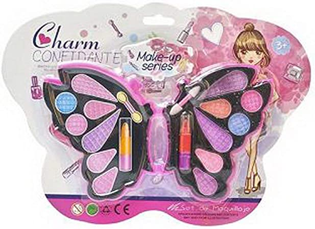 Fannty Kit de Maquillaje para niños Juego de simulación Estuche de Maquillaje y Juego de cosméticos Juego de imaginación para niñas Juego de Peinado para uñas: Amazon.es: Hogar