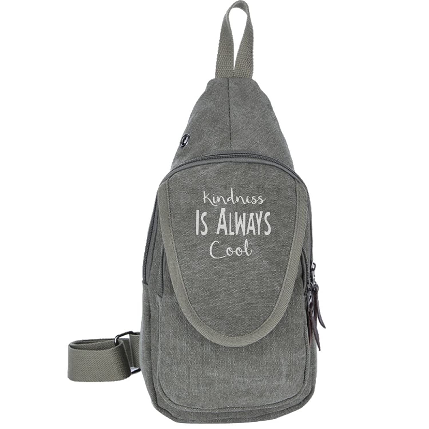 Kindness Is Always Cool Fashion Men s Bosom Bag Cross Body New Style Men  Canvas Chest Bags b2f05ee63f7c1