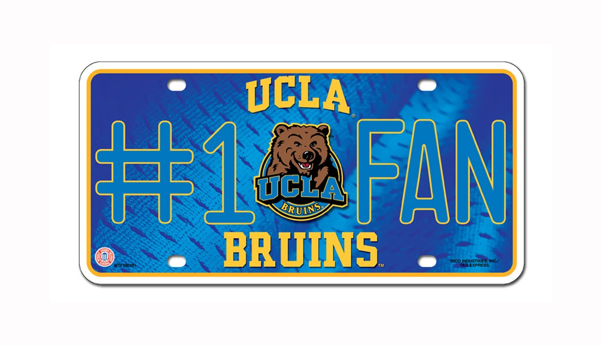Rico NCAA #1 Fan Metal Auto Tag Rico Industries Inc MTF100203