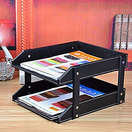 Artikle Leather Wall Literature Holder File Scratch Resistant Front Load Letter Filing Trays
