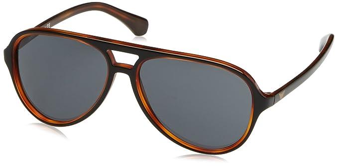 Emporio Armani EA4063 Gafas de sol, Black On Havana, 58 para ...