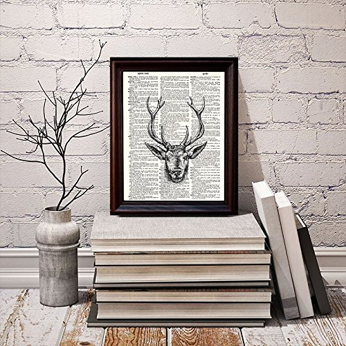 Dictionary Art Print Printed On Authentic Vintage Dictionary Book Page Fresh Prints of CT Stag 8 x 10.5