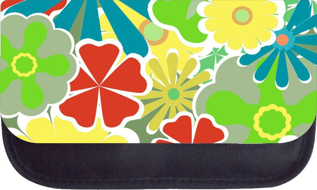 Rosie Parker Inc TM Medium Sized Messenger Bag 11.75 x 15.5 and 5 x 8 Pencil Case SET Flower Power 02