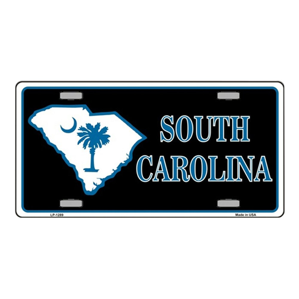 Smart Blonde South Carolina Flag Novelty Vanity Metal License Plate Tag Sign 34205793