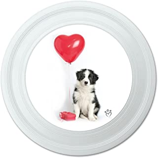 Graphique et Plus Chien Border Collie Cœur Saint Valentin Amour Fantaisie 22,9 cm Flying Disc 9 cm Flying Disc Graphics and More