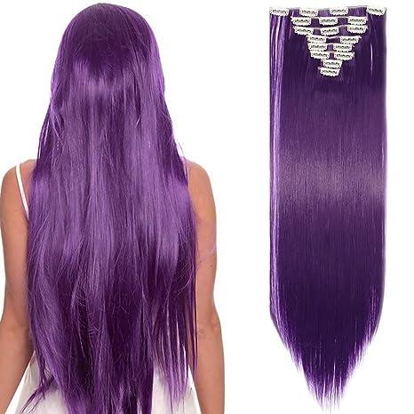 Extension cheveux violet