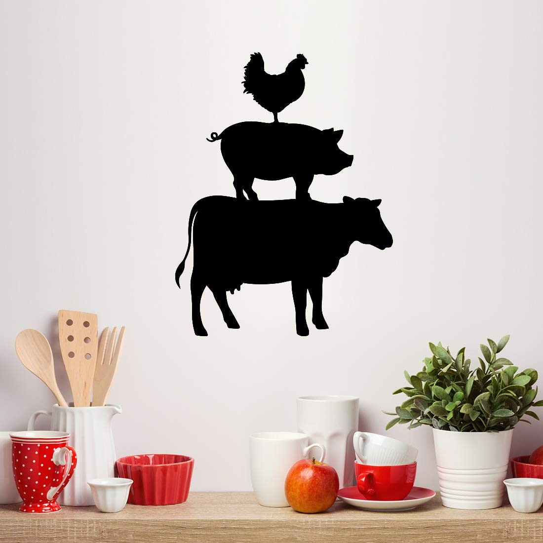 King Size Bed With Storage, Amazon Com Cow Pig Chicken Decal Rustic Farmhouse Kitchen Decor Handmade
