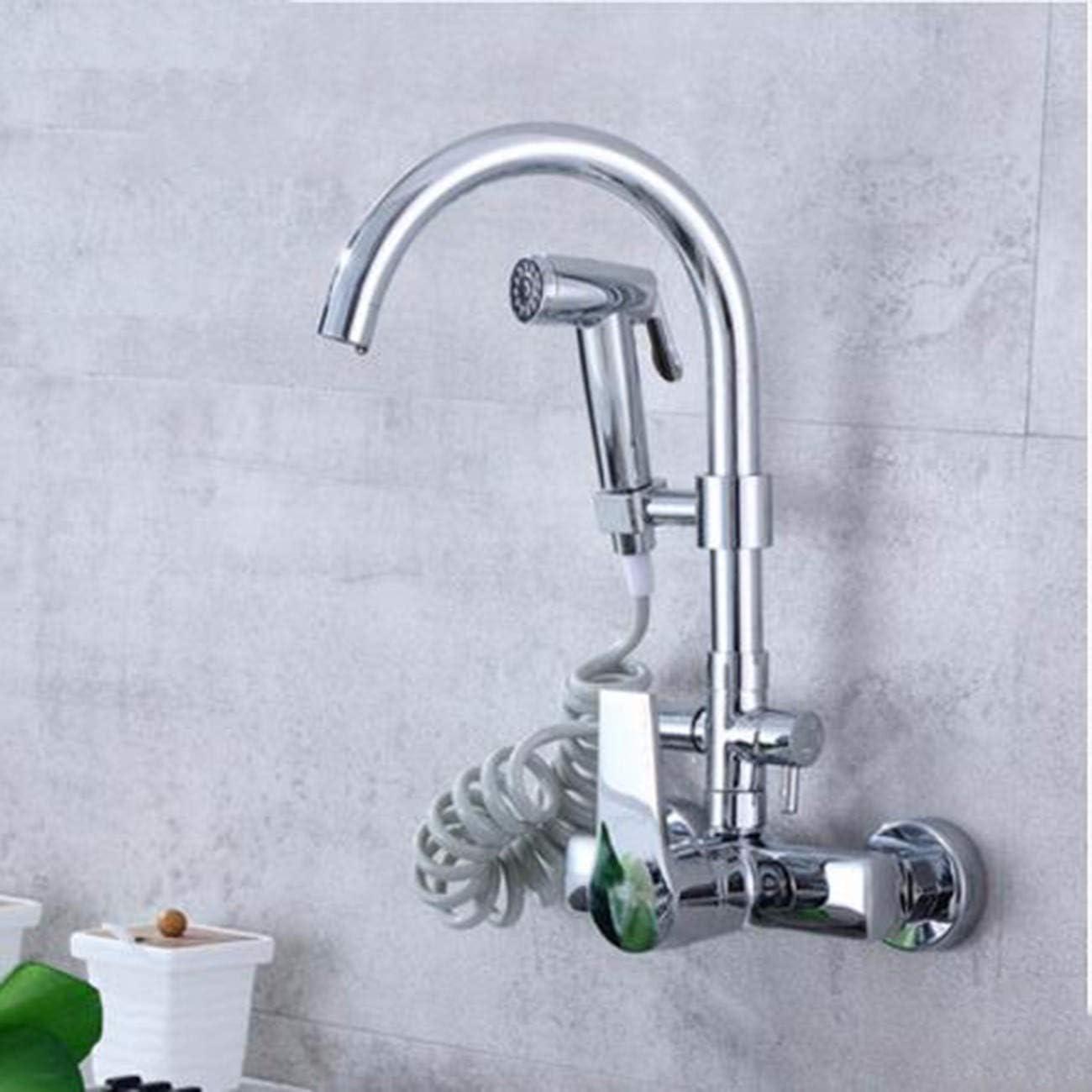 JFBZS-robinet Robinet de Cuisine Mural monotrou Trou Double Pistolet de pulv/érisation Multifonction