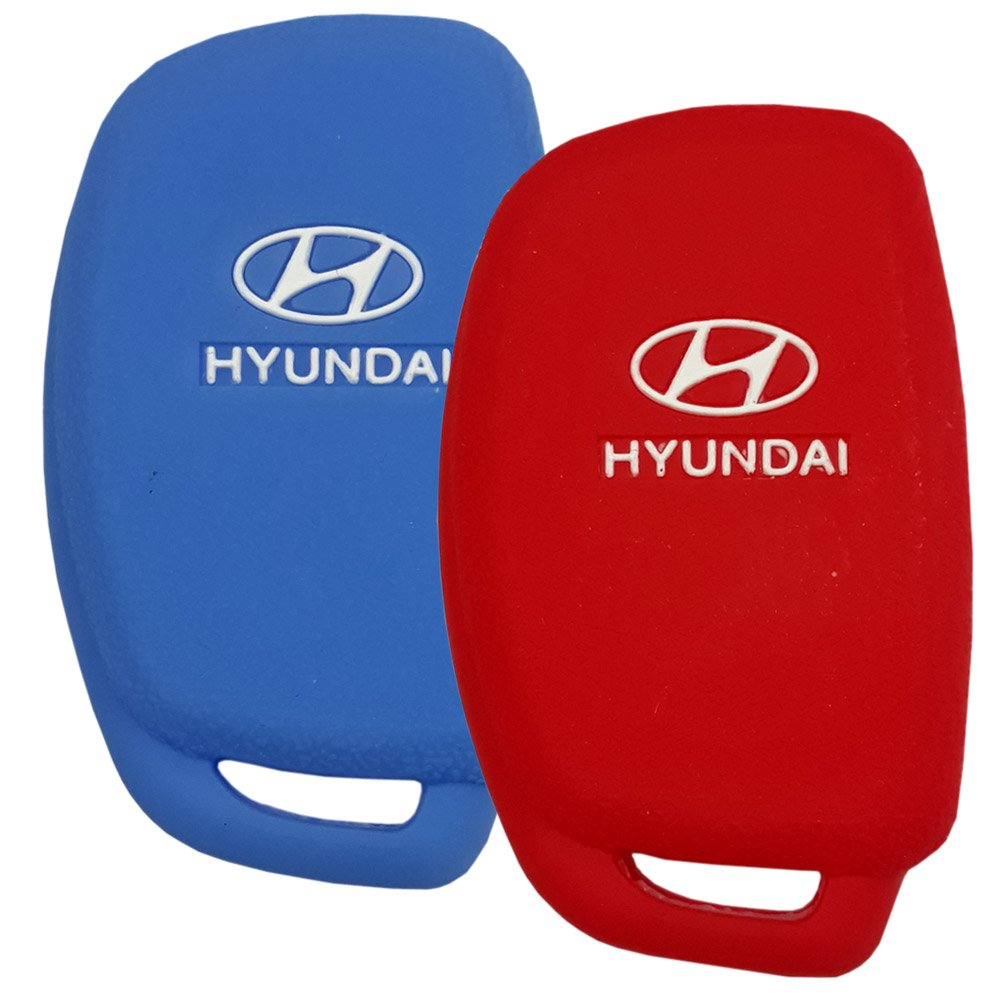 Hyundai Elantra Sonata Tucson i40 ix35 i45 4 Buttons Blue//RED 2 Pieces # 10 Hanmin Motors Car Smart Flip Key Silicone Case Rubber Holder Fob Kit Skin Protector Compatible with