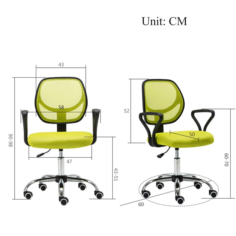 YYL kontorsstol svängbar dator kontor skrivbordsstol, modern minimalistisk lågrygg studier lyft träningsstol, stoppad nät (utan armstöden) svängbar stol (färg: Stil3) style5