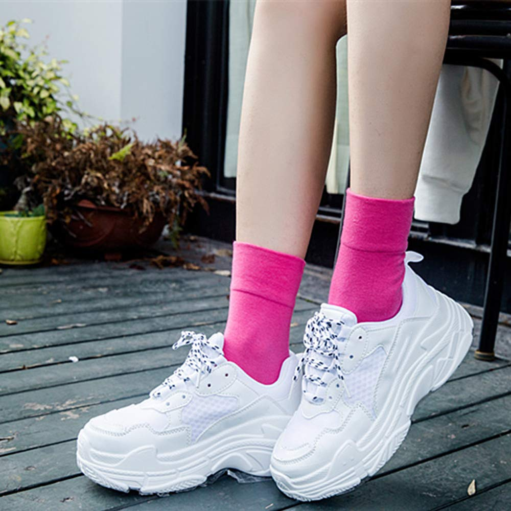 NEWITIN 8 Pairs Women Cotton Socks Candy Color Crew Cut Socks for Women Girls 8 Colors