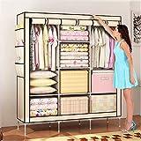 Amanda Home Portable Non-Woven Fabric Clothes and Wardrobe Storage Organizer (69 x 51 x 18in) (Beige)