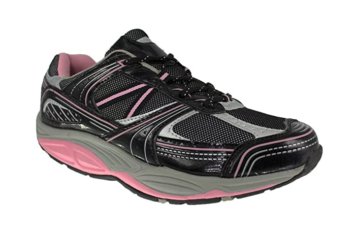 Aktiv Damen Outdoor Schuhe Gr 37 40 Gesundheitsschuhe Freizeit Sneaker rosa grau | dynamic