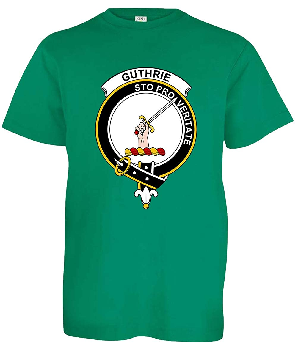 Tenacitee Boys Youth Scottish Clan Crest Badge Guthrie T-Shirt