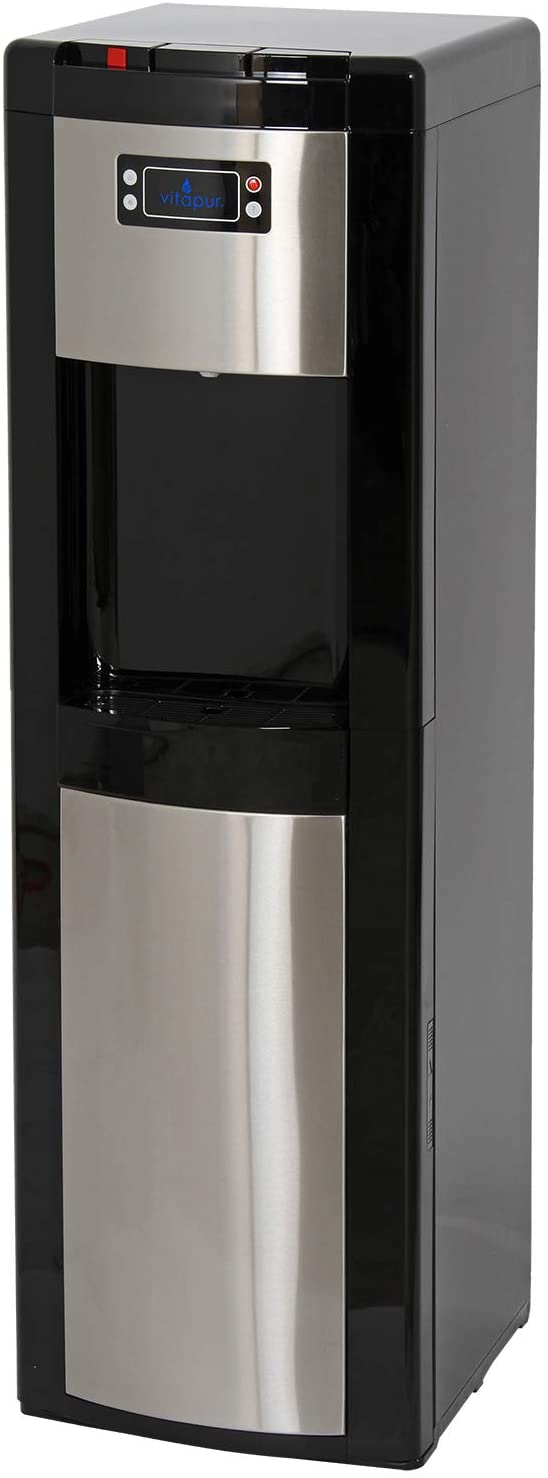Vitapur Bottom Load (Hot, Room and Cold) Black/Stainless Steel Water Dispenser, one size
