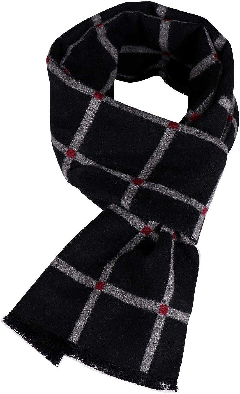 Winter Thicken Cashmere Plaid Scarf Men Fashion Design Warm Silk Shawl Scarves Male Men Scarfs