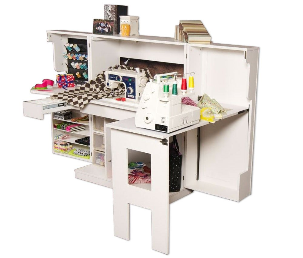 Amazon.com: Scrapbox Sewing Box Storage Cabinet For Sewing Crafts And  Accessories Storage   White