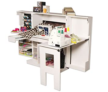 Scrapbox Sewing Box Storage Cabinet For Crafts And Accessories   White