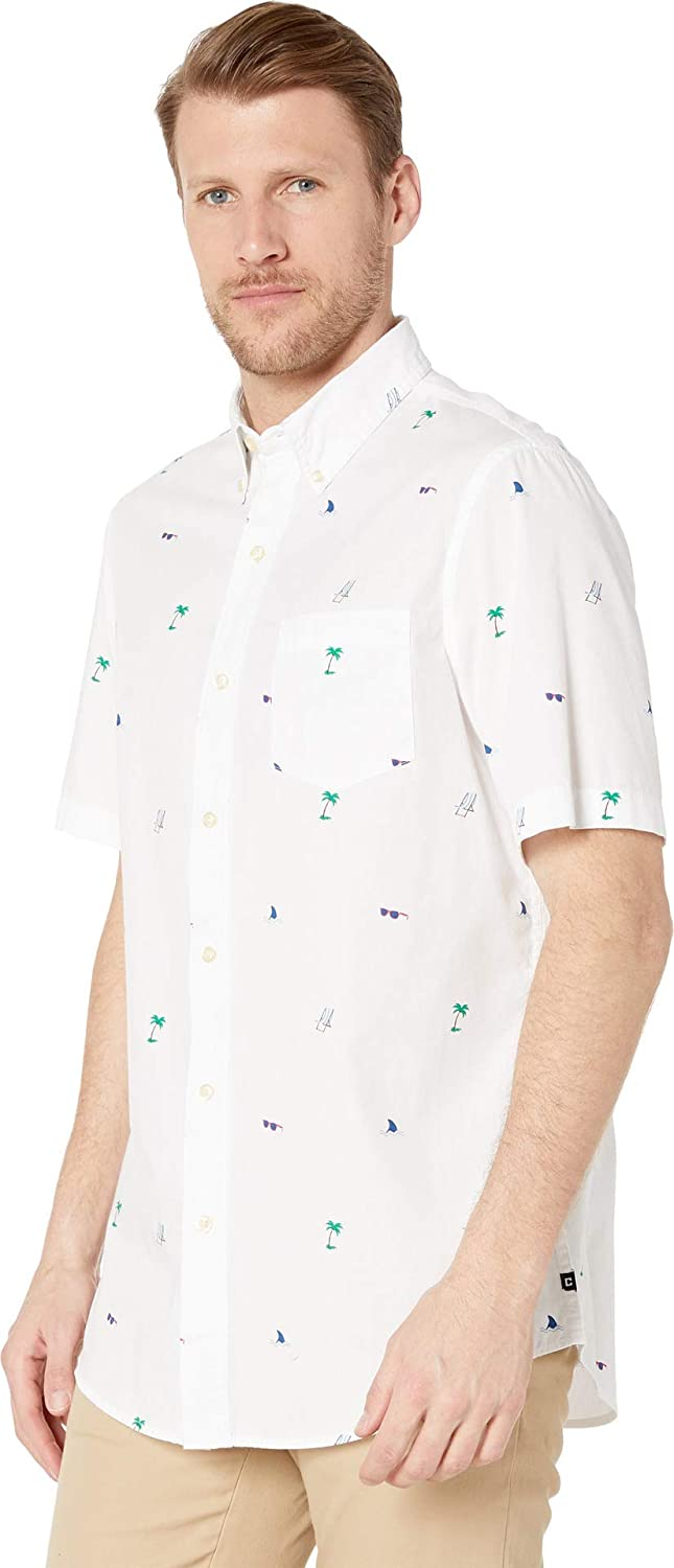Chaps Mens Short Sleeve Easy Care Button Down Shirt