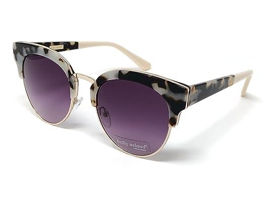 f8fbe29730 Amazon.com  Kathy Ireland Women s Acetate Ivory Cat-eye Sunglasses ...