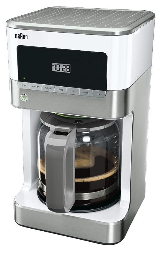 Amazon.com: Braun KF6050WH Brewsense - Cafetera de goteo (12 ...