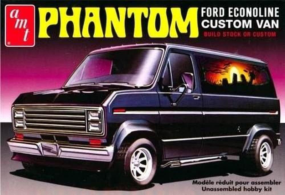 AMT AMT767 1976 Ford Custom Van Phantom ERTL