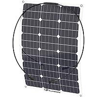 ALLPOWERS 50W 18V 12V Solar Panel Monocristalino Célula Placa Solar Portatil Flexible Módulo con Conectador MC4 para Coche, Carpa, Cabina, Barco, RV