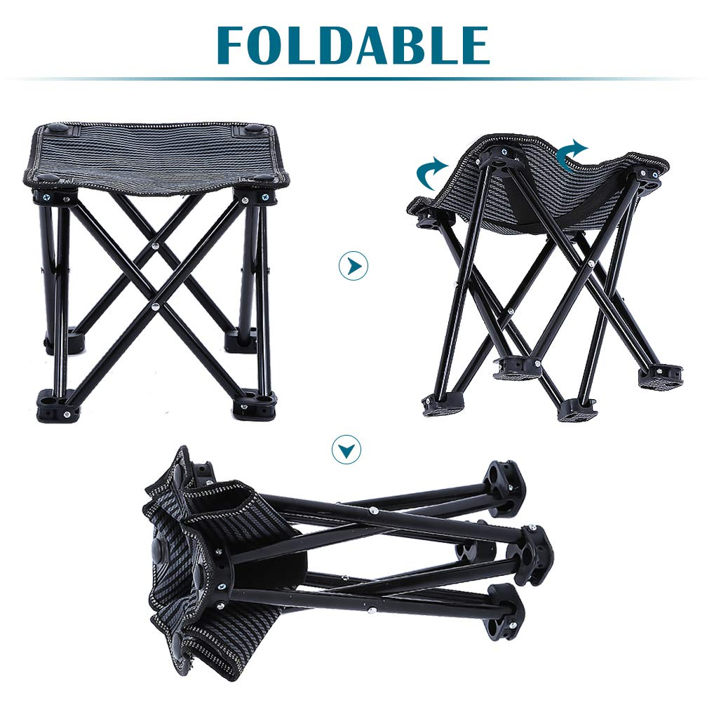 FairyMe Small Folding Chair Portable Camp Stool for Camping,Hiking,Fishing Travelling,Gardening,Beach Chairs by FairyMe (Image #4)