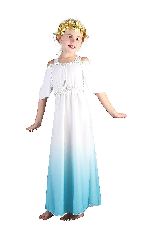 ROMAN GIRL//GREEK GODDESS BLACK TOGA GIRLS COSTUMES FANCY DRESS