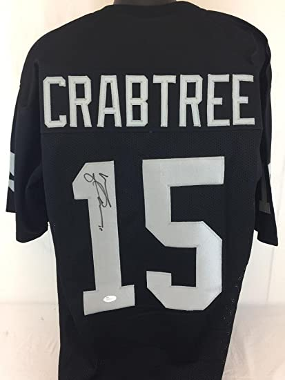 low cost 332e3 aa7c1 MICHAEL CRABTREE SIGNED AUTOGRAPHED JERSEY JSA COA RAIDERS ...
