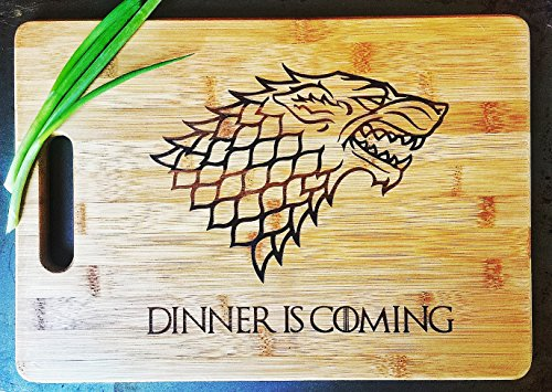 Alpha Awards Dinner is Coming Cutting Board, 13 3/4 x 9 3/4, Laser Engraved Bamboo, Funny Gift Item