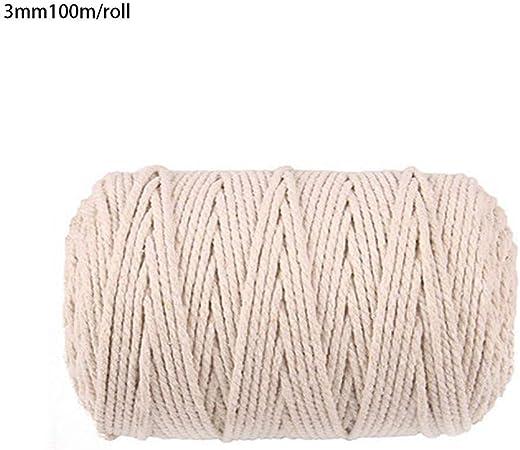 Hilo de urdimbre de macramé de color beige, hilo de algodón, cuerda para picar, algodón artesanal para decoración DIY, festivales, regalos, fabricación artesanal: Amazon.es: Hogar