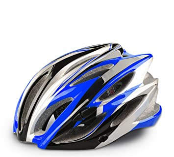 LLTS Casco de Bicicleta Ultraligero Casco de Ciclismo Casco de Modelado Integrado, Azul Negro