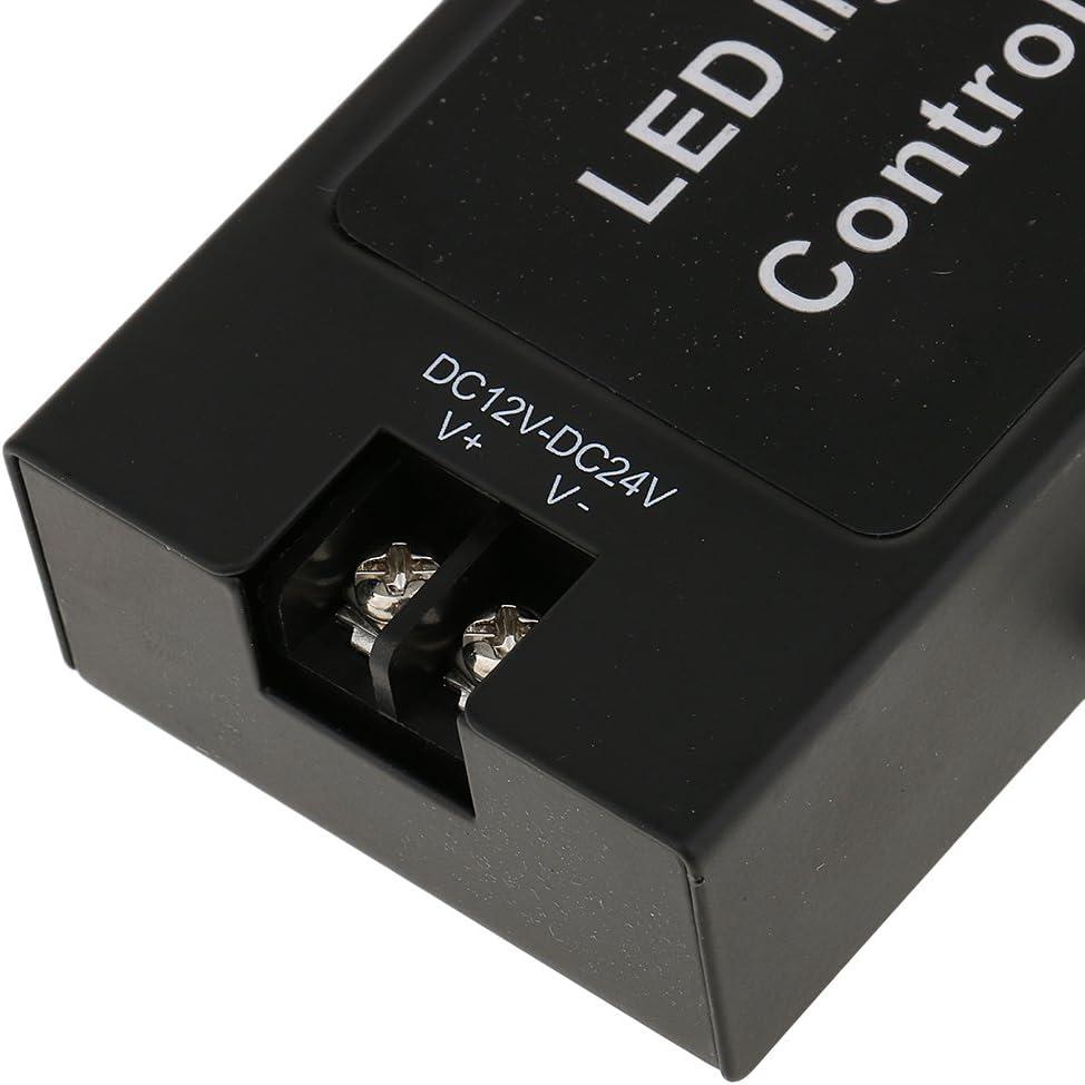 kesoto 12-24V Flash Strobe Controller Box Flasher Module Con Control Remoto Inal/ámbrico Para Luz De Freno LED Luz De Freno De Cola Universal Para Motociclet