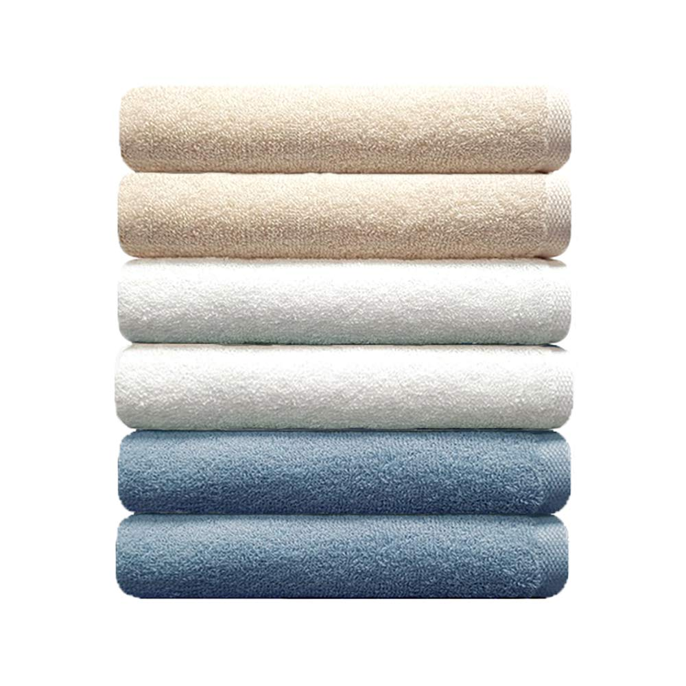 Songwol Premium Towel Set (Set of 6) | 16 X 32 Inch (40 X 80 cm) | 100% Combed Cotton Towels for Home, Hotel and Spa | Maximum Softness and Absorbency (410 GSM)