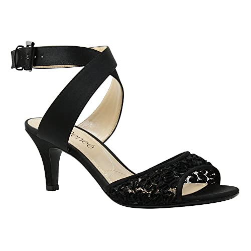 Image Unavailable. Image not available for. Color  J. Renee Women s Soncino Criss  Cross Ankle Strap Mid Heel ...