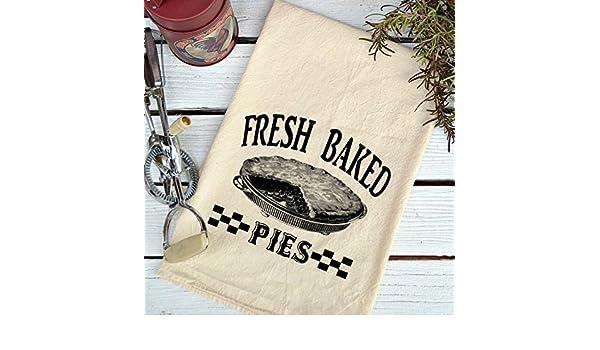Farmhouse Natural harina saco Fresh Baked pies país toalla de cocina: Amazon.es: Hogar