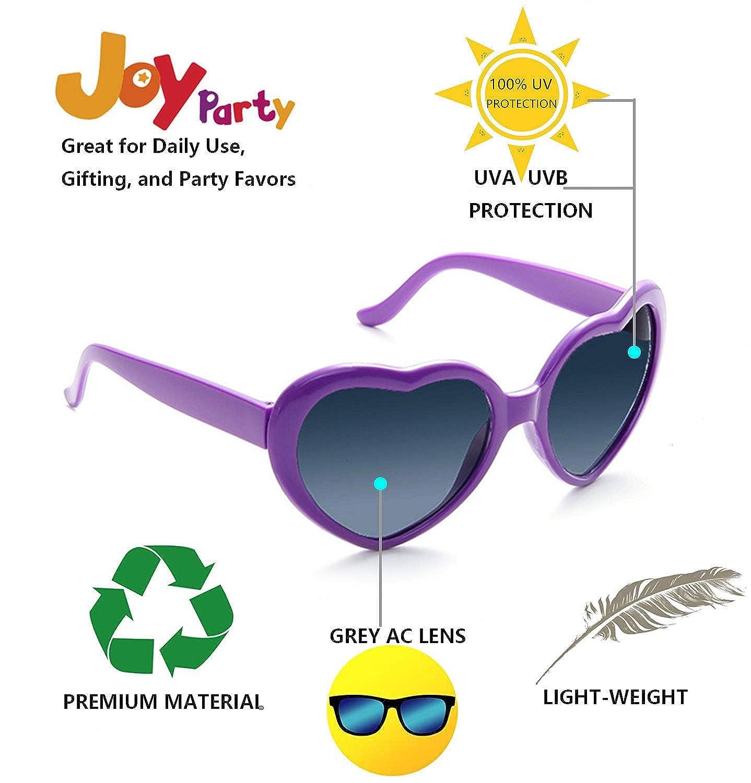 Fsmiling Set Occhiali da Sole Festa a Forma di Cuore per Bambini Adulti