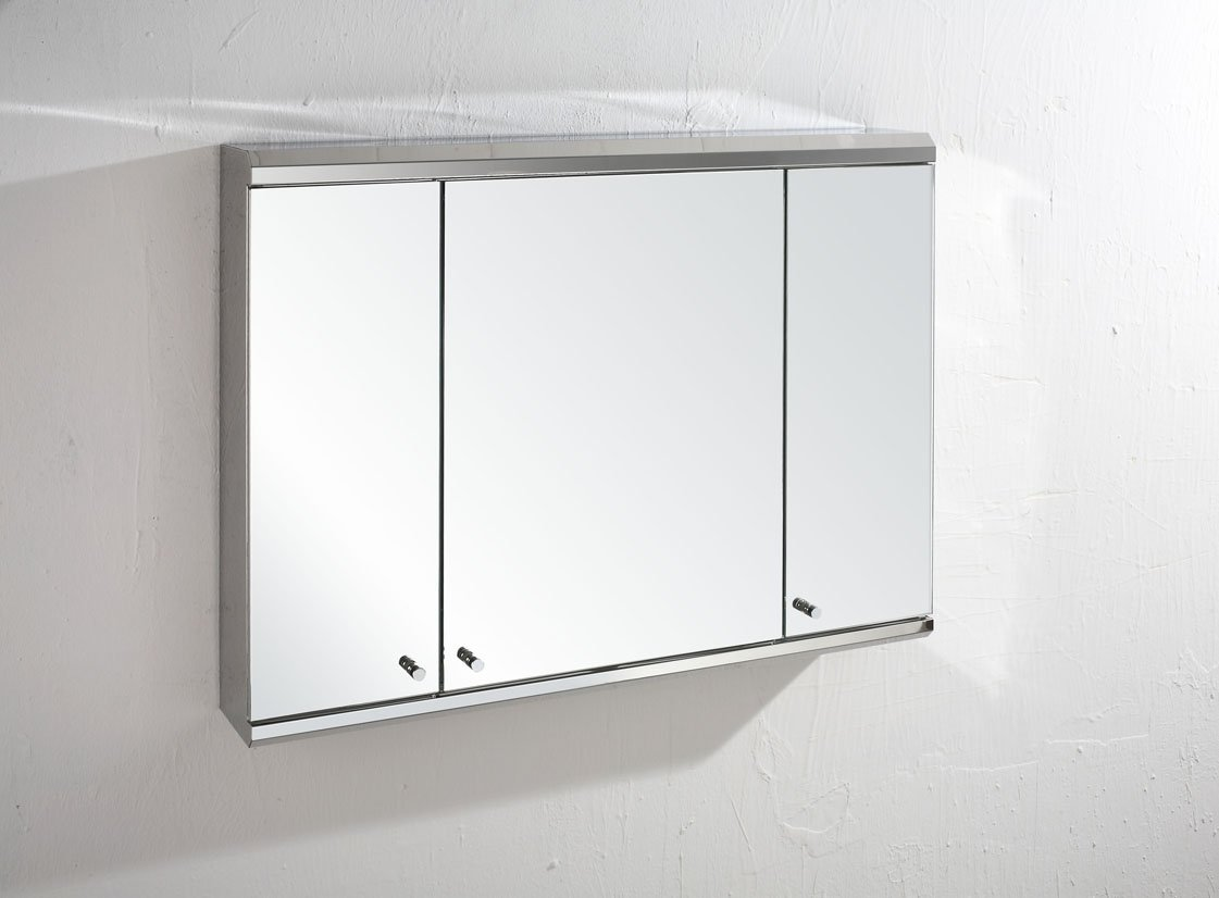 Biscay 120cm X 65cm Triple Door Mirror Bathroom Wall Cabinet: Amazon.co.uk:  Kitchen U0026 Home