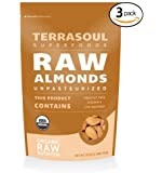 Terrasoul Superfoods Raw Unpasteurized Organic Almonds (Sproutable), 6 Pounds