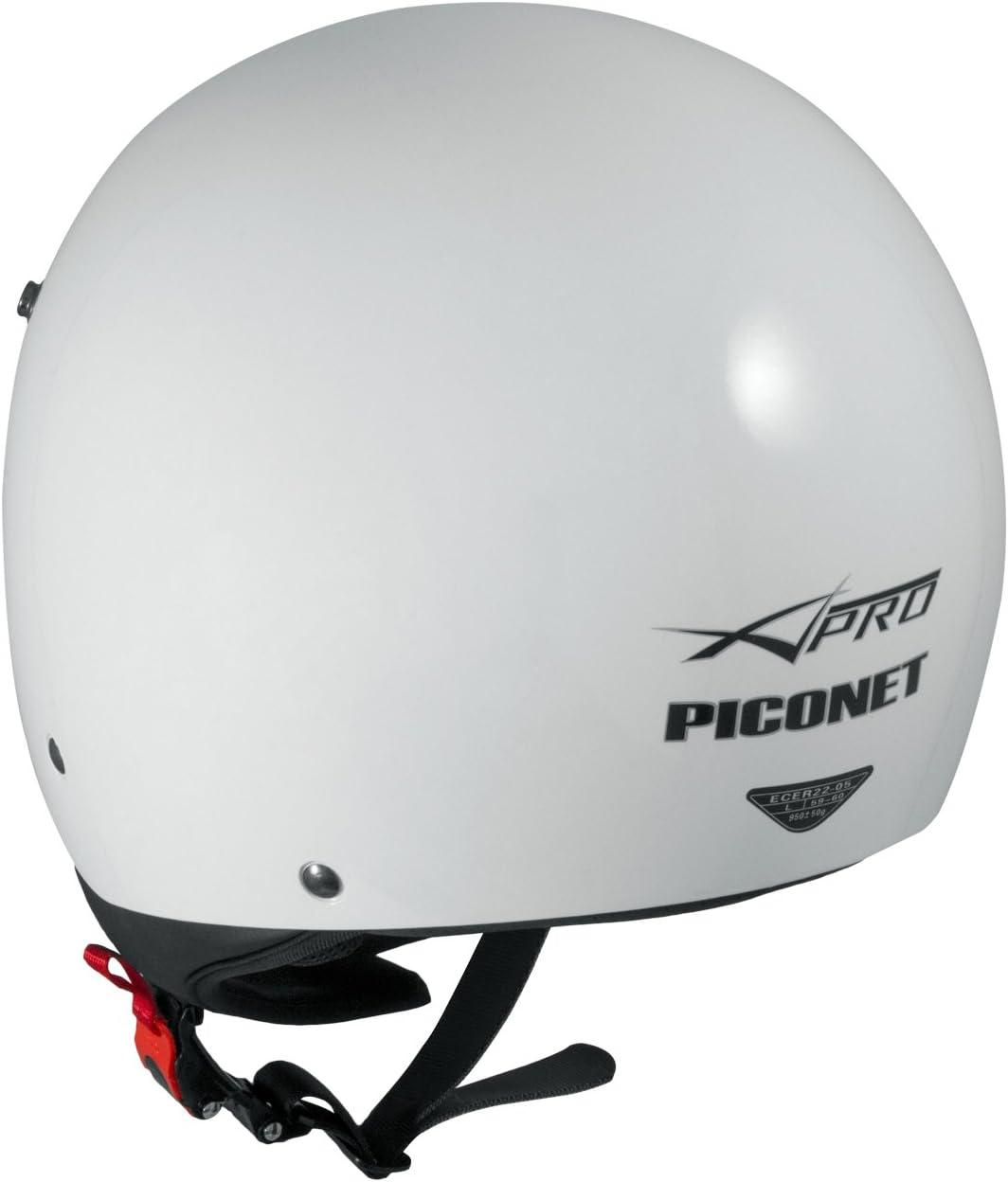 Piconet Casco Jet Frontino Moto Scooter Quad Custom Bianco ECE 22-05 TAGLIA M