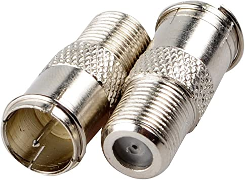 F Type Coax Coaxial Cable Coupler Male Jack Adapter Connector