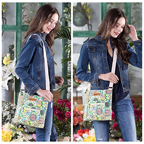 Malirona Women Crossbody Purse Hipster Cross Body Bag Canvas Shoulder Handbag Floral Design by Malirona (Image #2)