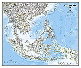 Southeast Asia Classic: Wall Maps Countries & Regions National ...