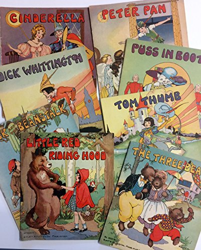 Platt & Munk Series 3000 A-H (8 books) Cinderella, Dick Whittington, Jack and the Beanstalk, Little Red Riding Hood, Peter Pan, Puss in Boots, Three Bears, Tom Thumb