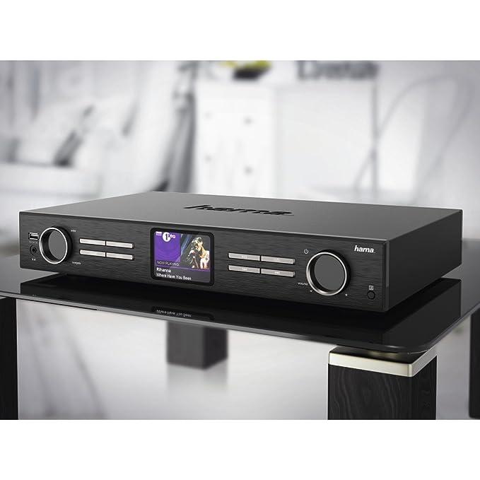 Hama 00054821 - Radio digital con internet HiFi «DIT2000» (Internet radio/DAB+/FM/app contr./Multiroom) pantalla en color de 3.2
